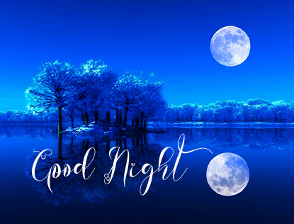 Full Moon HD and River Good Night Image
