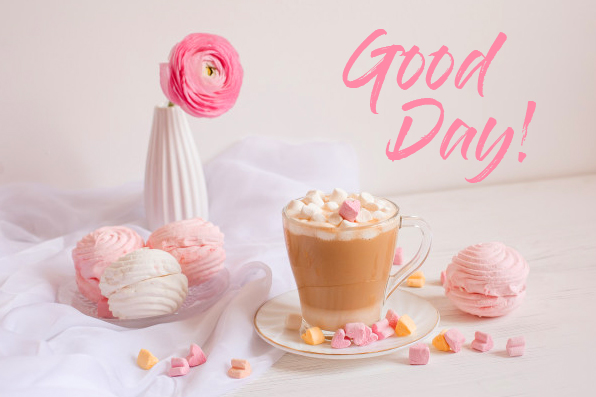 Good Day Card with Pink Wallpaper