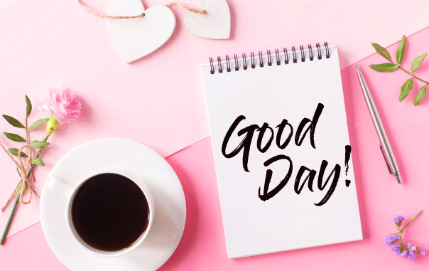 Good Day Wish on Notebook Image