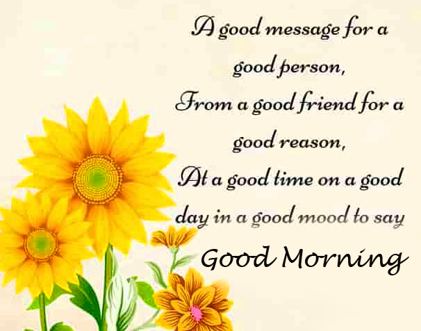 Good Message with Good Morning Wish