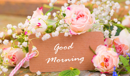 Good Morning Card with Flowers