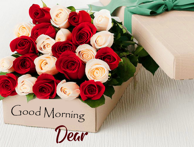 Good Morning Dear with Flowers