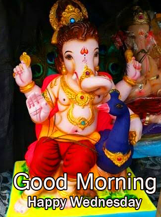 Good Morning Happy Wednesday with Best Ganesha Pic