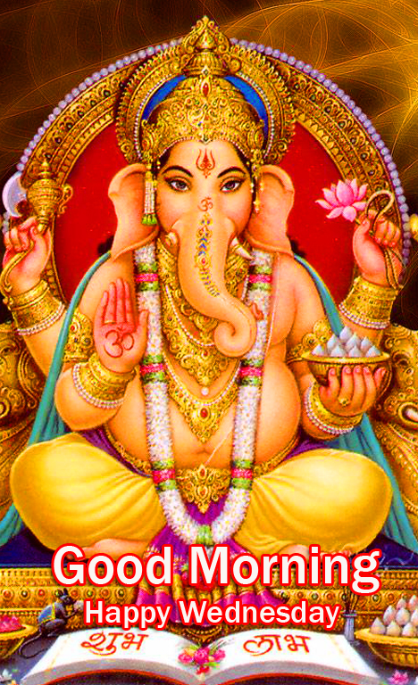 Good Morning Happy Wednesday with Lord Ganesha Pic