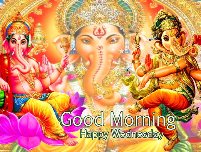 Good Morning Happy Wednesday with Lord Ganesha