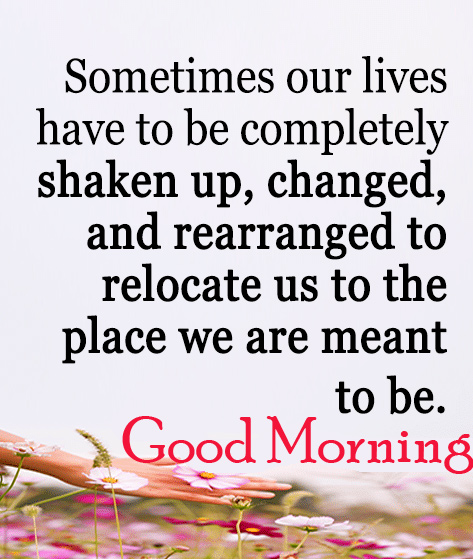 Good Morning Life Quotes Image
