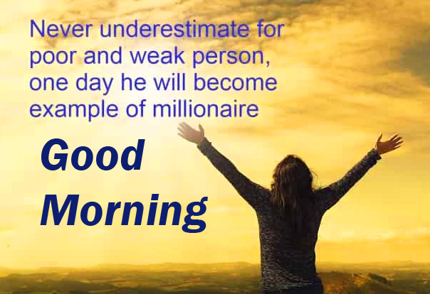 Good Morning Wish with Beautiful and Lovely Thought