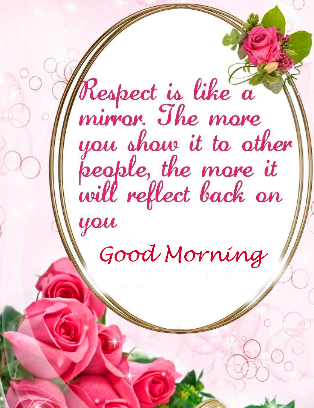 Good Morning Wish with Floral Quotes