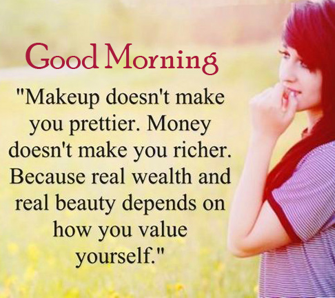 Good Morning Wish with Girly Quotes