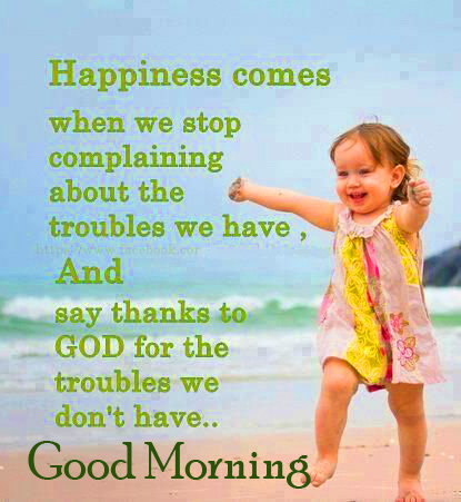 Good Morning Wish with Happiness Quotes
