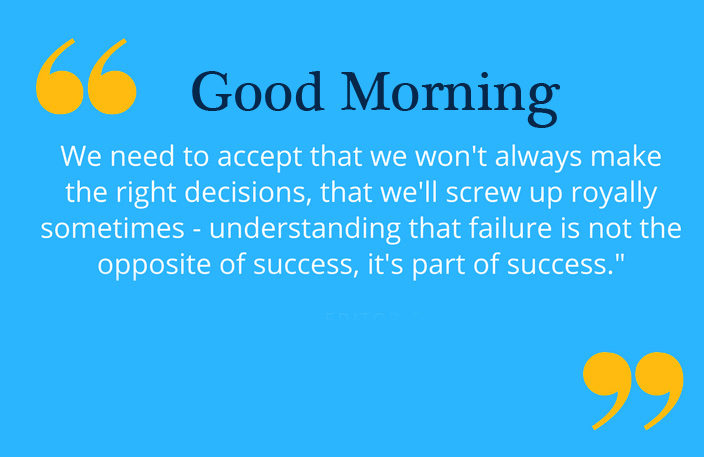Good Morning Wish with Motivational Quotes