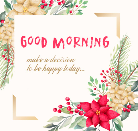 Good Morning with Be Happy Thought