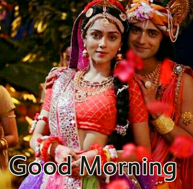 Good Morning with Best Radha and Krishna Image