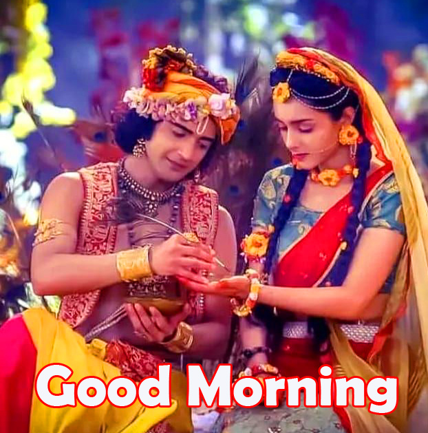 Good Morning with Best Radha and Krishna Pic