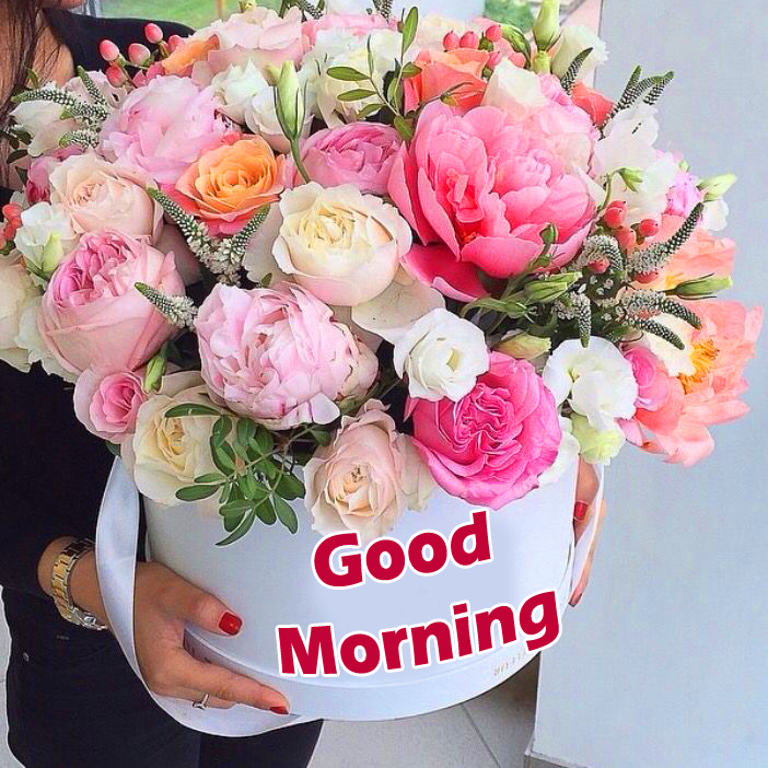 Good Morning with Flowers Bouquet Image