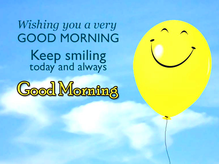 Good Morning with Keep Smiling Quotes