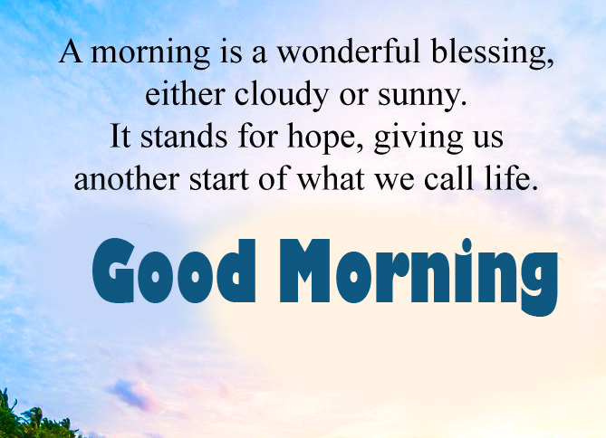 Good Morning with Sunny Thought Pic