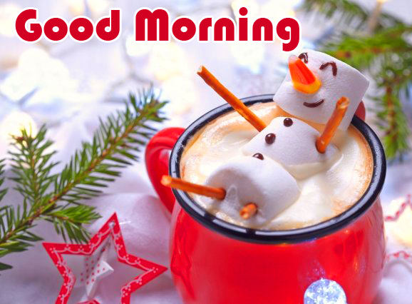 Good Morning with Winter Coffee Cup