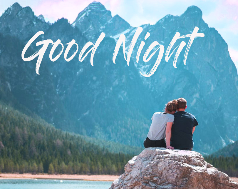 Good Night Message with Couple Photo