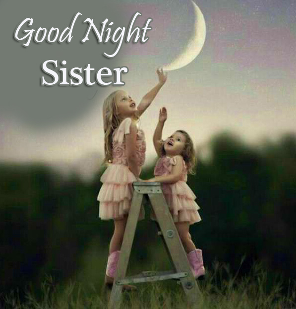 Good Night Sister Image with Cute Girls