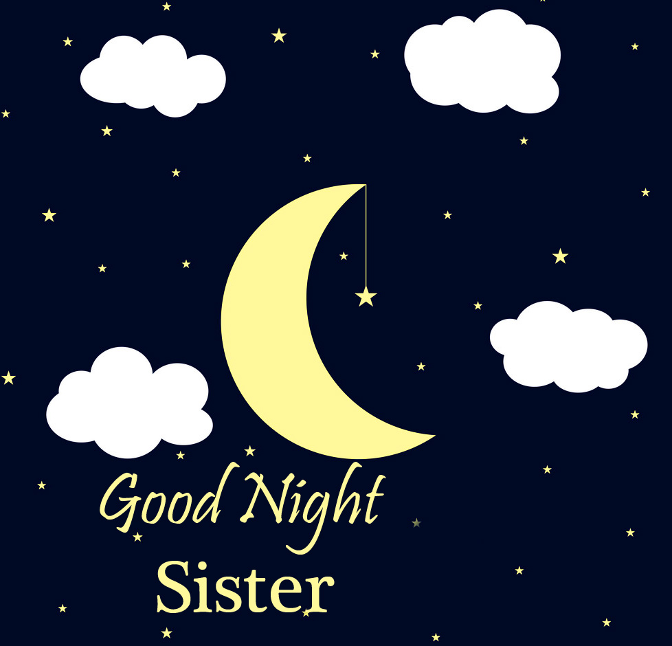 Good Night Sister Moon and Stars Picture