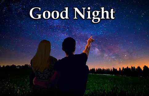 Good Night Wish and Message with Couple