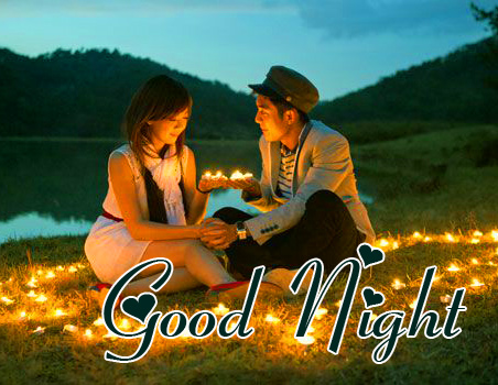 Good Night Wish with Cute Couple Pic