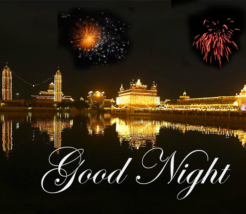 Good Night Wish with Golden Temple