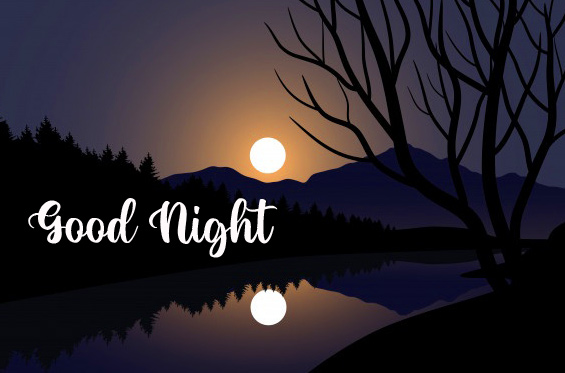 Good Night Wish with Moon River