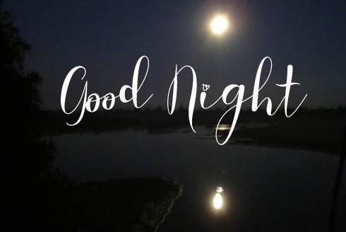 Good Night Wish with Moon and River