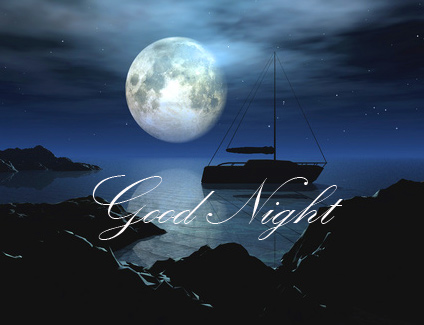 Good Night Wish with River and Moon