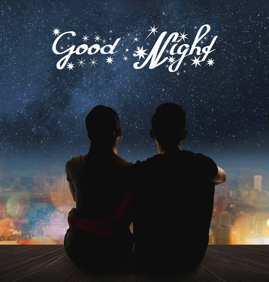 Good Night Wish with Romantic Couple Picture