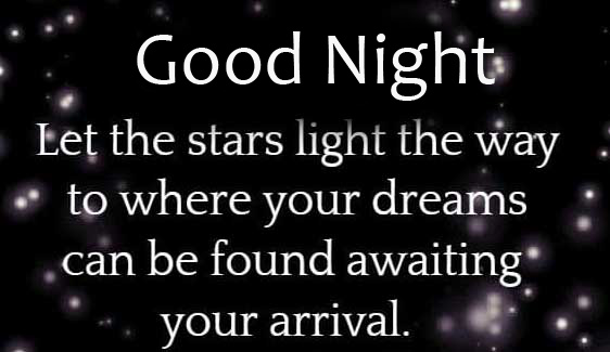 Good Night with Stars Quotes