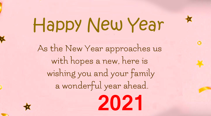 HD Happy New Year Message Photo