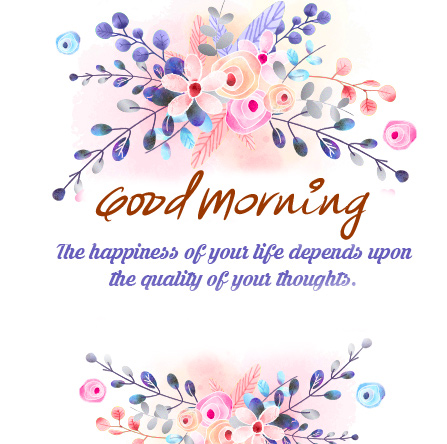 Happiness Thought Good Morning Image