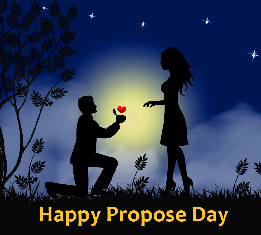 Happy Propose Day Couple HD Photo