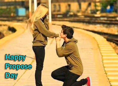 Happy Propose Day Couple Wallpaper HD