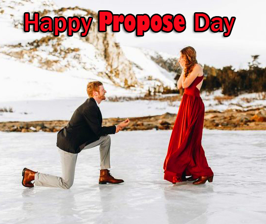 Happy Propose Day Couple Wish Wallpaper
