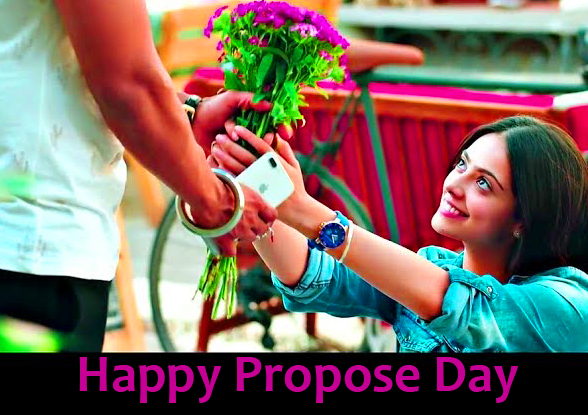 Happy Propose Day Wish with Latest Couple Pic