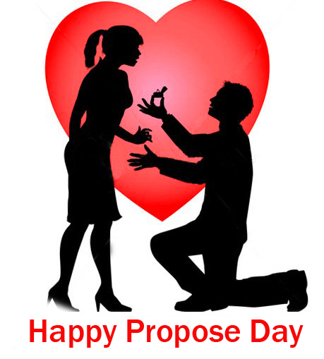 Happy Propose Day Wish with Romantic Couple