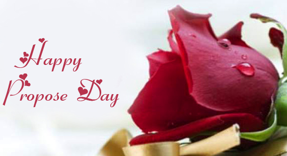 Happy Propose Day Wish with Rose Flower