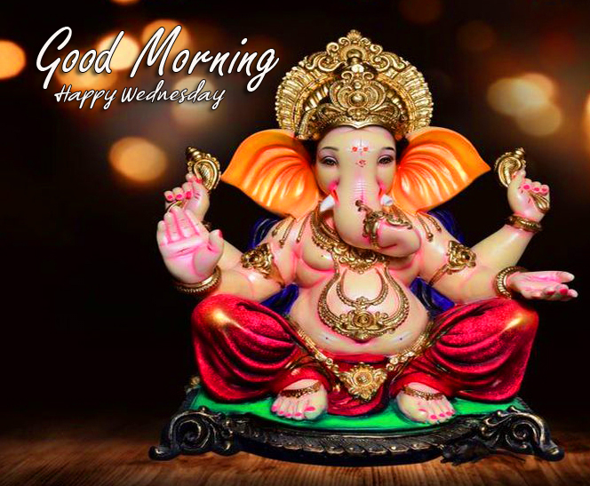 Lord Ganesha Good Morning Happy Wednesday Picture