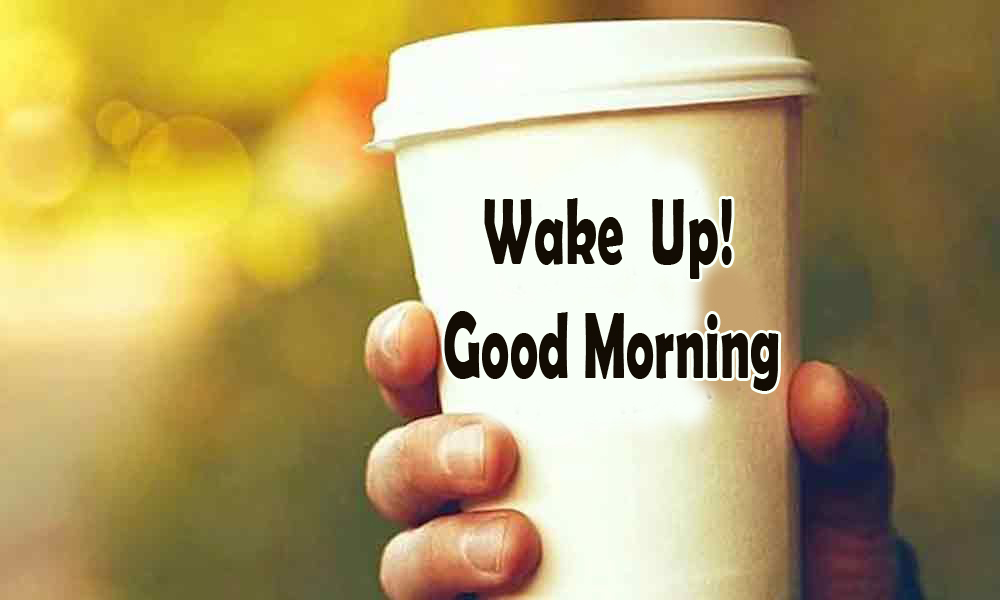 Lovely Coffee Cup Wake Up Good Morning Image