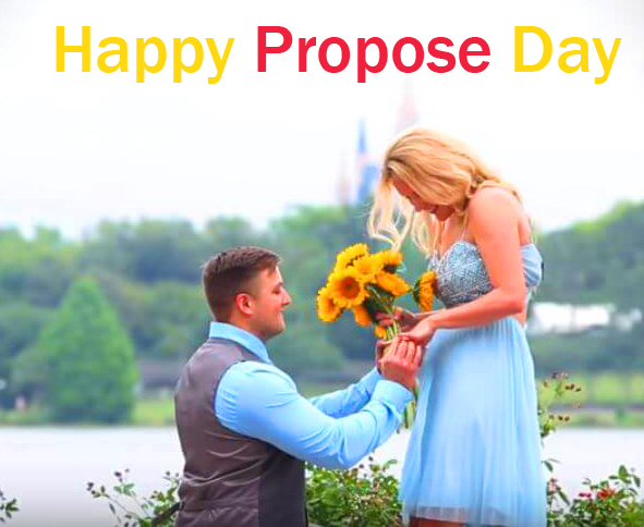 Lovely Couple Happy Propose Day Picture