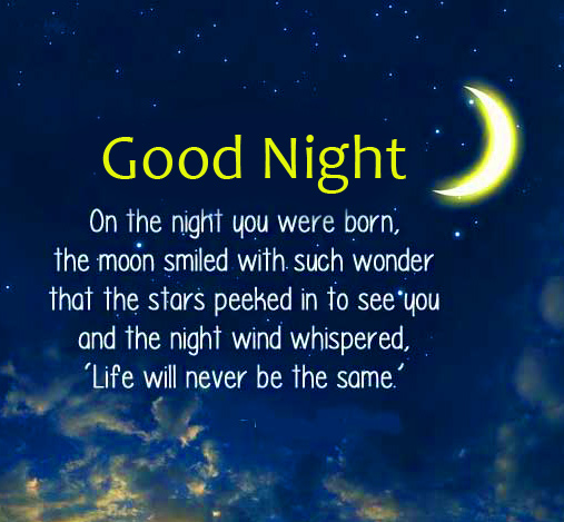 Lovely Good Night Quotes Image
