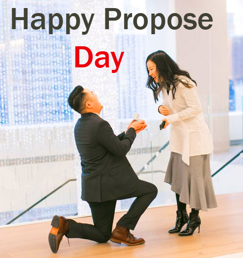 Lovely HD Couple Happy Propose Day Image