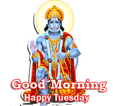 Lovely Hanuman Good Morning Happy Tuesday Picture HD