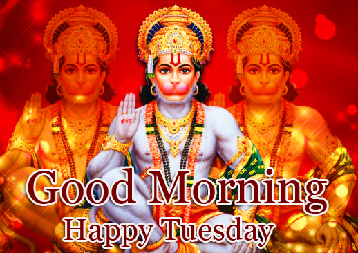 Lovely Hanuman Good Morning Happy Tuesday Picture