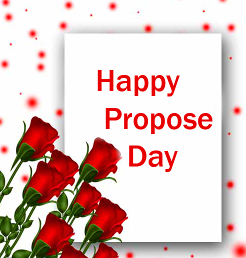 Lovely Red Roses Happy Propose Day Card Pic