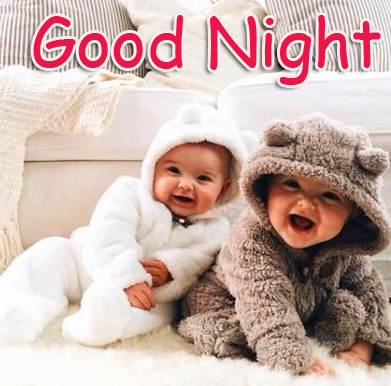 Lovely Twins Baby Good Night Image